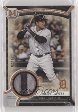 2018 Topps Museum Collection - Meaningful Material Patch Relics - Copper #MMR-MCA - Miguel Cabrera /35
