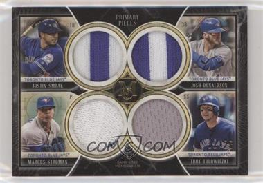 2018 Topps Museum Collection - Primary Pieces Quad Relics - Gold #FPQR-TOR - Justin Smoak, Marcus Stroman, Josh Donaldson, Troy Tulowitzki /25