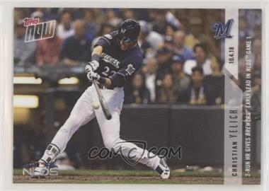 2018 Topps Now - [Base] #843 - Christian Yelich /340