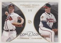 Greg Maddux, Tom Glavine #/5