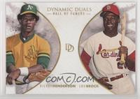 Hall of Famers - Rickey Henderson, Lou Brock /700