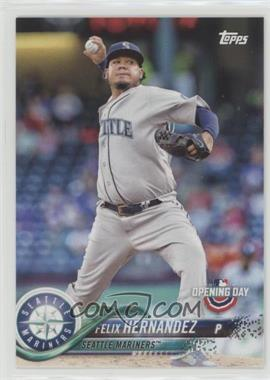 2018 Topps Opening Day - [Base] #93.1 - Felix Hernandez (Pitching)