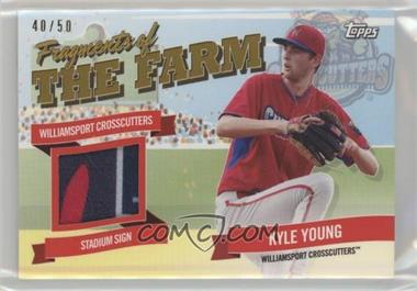 2018 Topps Pro Debut - Fragments of the Farm Relics - Gold #FOTF-WIC - Kyle Young /50