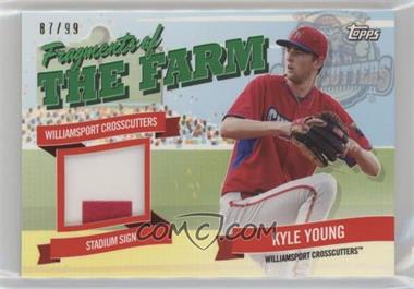 2018 Topps Pro Debut - Fragments of the Farm Relics - Green #FOTF-WIC - Kyle Young /99