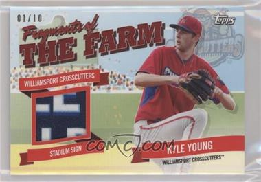 2018 Topps Pro Debut - Fragments of the Farm Relics - Red #FOTF-WIC - Kyle Young /10