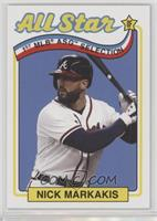 1989 Topps All-Star Game Design (Incorrectly Noted as 1969) - Nick Markakis #/7…