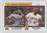 1978 Topps Football Leaders Design - J.D. Martinez, Mike Trout /1090
