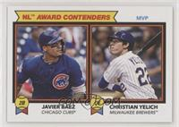 1978 Topps Football Leaders Design - Javier Baez, Christian Yelich #/1,090