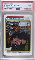 1974 Topps '73 World Series Design - Ronald Acuna Jr. [PSA 9 MINT] #/…