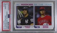 1982 Topps Baseball League Leaders Design - Aaron Judge, Shohei Ohtani /756 [PS…