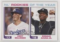1982 Topps Baseball League Leaders Design - Cody Bellinger, Ronald Acuna Jr. /7…