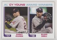 1982 Topps Baseball League Leaders Design - Corey Kluber, Blake Snell #/756