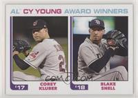 1982 Topps Baseball League Leaders Design - Corey Kluber, Blake Snell /756