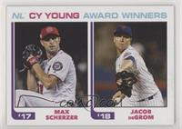 1982 Topps Baseball League Leaders Design - Max Scherzer, Jacob deGrom /756