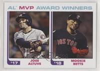 1982 Topps Baseball League Leaders Design - Jose Altuve, Mookie Betts /756