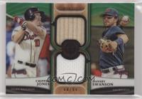 Chipper Jones, Dansby Swanson #/99