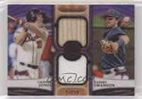 Dansby Swanson, Chipper Jones #/50