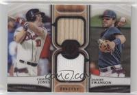 Chipper Jones, Dansby Swanson [Noted] #/150