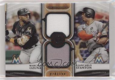 2018 Topps Tribute - Dual Relics #DR-OS - Marcell Ozuna, Giancarlo Stanton /150