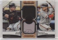Buster Posey, Brandon Crawford #/150
