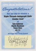 Trevor Story, Charlie Blackmon, Tyler Anderson /36 [BeingRedeemed]