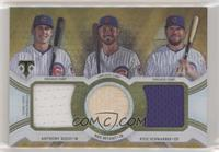 Anthony Rizzo, Kris Bryant, Kyle Schwarber #/9