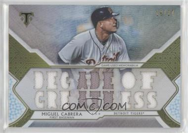 2018 Topps Triple Threads - Triple Threads Relics - Silver #TTR-MCB3 - Miguel Cabrera /27
