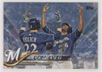 Throw Your Hands In The Air (Christian Yelich & Lorenzo Cain) /50