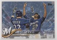 Throw Your Hands In The Air (Christian Yelich & Lorenzo Cain) #/50