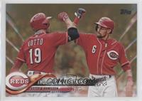 Thunder & Lightning (Joey Votto & Billy Hamilton) #/2,018