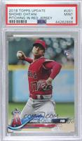 Shohei Ohtani (Pitching, Red Jersey) [PSA 9 MINT]