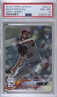 SSP Variation - Miles Mikolas (Pitching, Jersey Number Visible) [PSA 8&nbs…