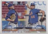 Rookie Combos - P.J. Conlon, Corey Oswalt