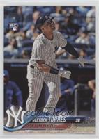 Base - Gleyber Torres (Batting, Pinstriped Jersey)
