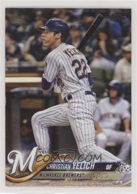 2018 Topps Update Series - [Base] #US248.1 - Base - Christian Yelich (Vertical, Batting)