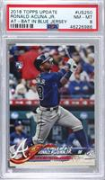 Ronald Acuna (Vertical, Blue Jersey) [PSA 8 NM‑MT]