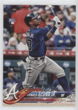 2018 Topps Update Series - [Base] #US250.1 - Ronald Acuna (Vertical, Blue Jersey)