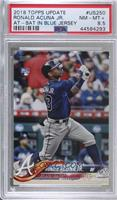 Ronald Acuna (Vertical, Blue Jersey) [PSA 8.5 NM‑MT+]