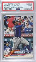 Ronald Acuna (Vertical, Blue Jersey) [PSA 9 MINT]