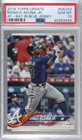 Ronald Acuna (Vertical, Blue Jersey) [PSA 10 GEM MT]