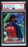 SP Variation - Ronald Acuna (Vertical, Warmup Jersey) [PSA 9 MINT]