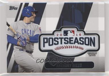2018 Topps Update Series - MLB Postseason Logo Manufactured Patch #PSL-AR - Anthony Rizzo