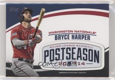 2018 Topps Update Series - MLB Postseason Logo Manufactured Patch #PSL-BH - Bryce Harper