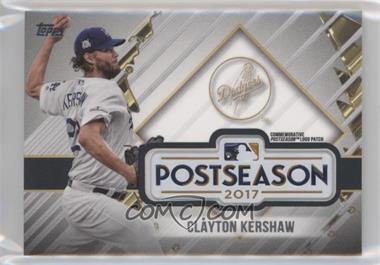 2018 Topps Update Series - MLB Postseason Logo Manufactured Patch #PSL-CK - Clayton Kershaw