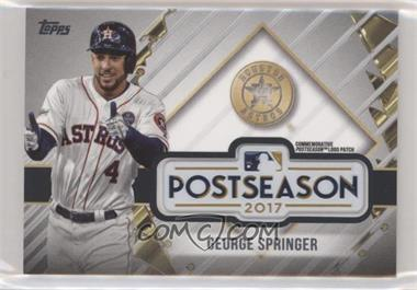 2018 Topps Update Series - MLB Postseason Logo Manufactured Patch #PSL-GS - George Springer