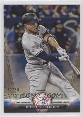 2018 Topps Update Series - Salute - Gold #S-42 - Giancarlo Stanton /50