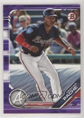 2019 Bowman - Prospects - Purple #BP-62 - Cristian Pache /250