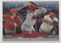 Ranger Suarez, Darick Hall, Adam Haseley
