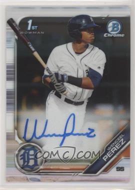 2019 Bowman Chrome - Prospects Autographs #CPA-WP - Wenceel Perez