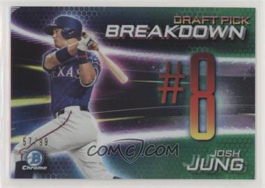 2019 Bowman Draft - Chrome Bowman Scouts Draft Pick Breakdown - Green Refractor #BSB-JJ - Josh Jung /99